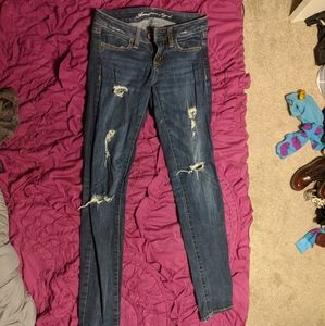 American Eagle ripped distressed jeggings